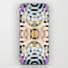 Wave Pattern 4, Black iPhone & iPod Skin