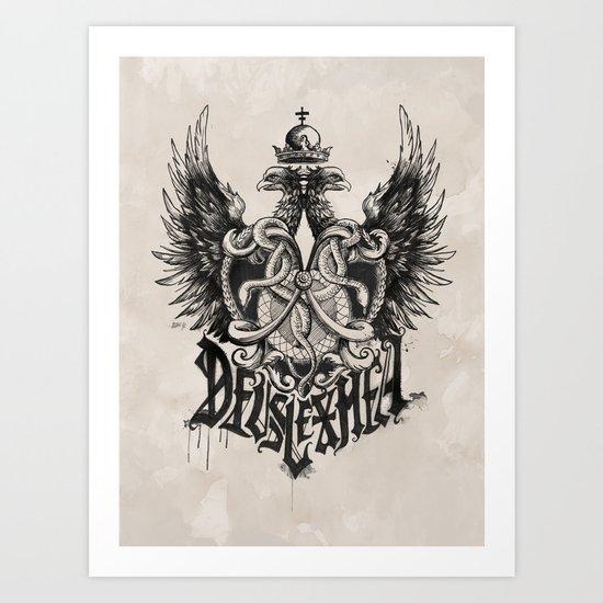Deus Lex Mea - God is my Light Art Print