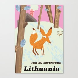 For an adventure Lithuania Canvas Print