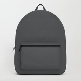 Solid Elephant Gray Grey Backpack