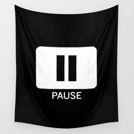 Pause Button Wall Tapestry