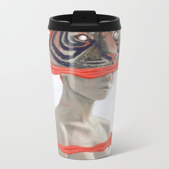 TIGER GIRL Metal Travel Mug