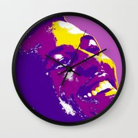 lakers Wall Clocks featuring Swaggy by SUNNY Design