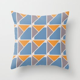 Retro Geometry surface pattern Throw Pillow