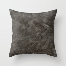 Black And White Brushstrokes Abstract Pattern Modern Art Throw Pillow