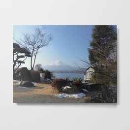 Mt Fuji Over Lake Kawagoe Metal Print