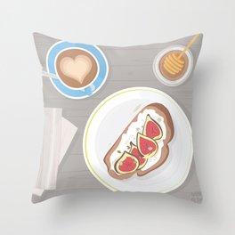 Fig toast Throw Pillow