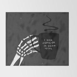 Black Coffee Throw Blanket