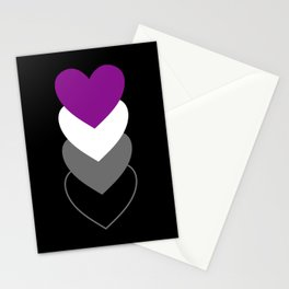 Asexuality in Shapes Stationery Cards