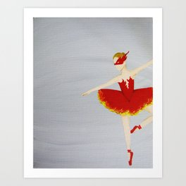 The Firebird - Original Acrylic on Canvas Ballet Art Art Print