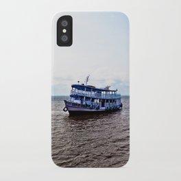 Amazon river boat iPhone Case