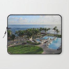 Atlantic Ocean view from Caribe Hilton, San Juan, Puerto Rico Laptop Sleeve