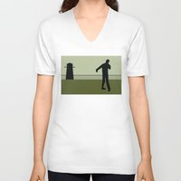 the walking dead V-neck T-shirts featuring Walking Dead by Drix Design