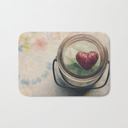 Love in a jar Bath Mat