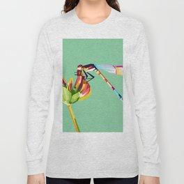 Pop art dragonfly design Long Sleeve T-shirt
