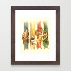 House Brawl Framed Art Print