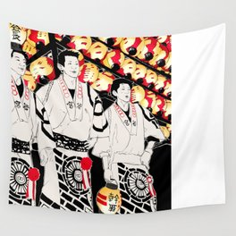 NIHONMATSU chochin matsuri Wall Tapestry
