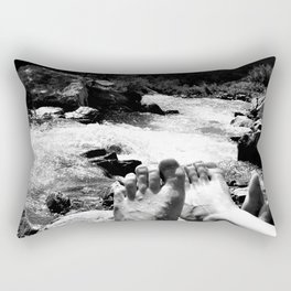 verpeil valley cold river feet kaunertal tirol austria europe black white Rectangular Pillow