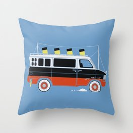 The Titanic Van Sinks Throw Pillow