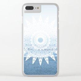 Surf mandala Clear iPhone Case