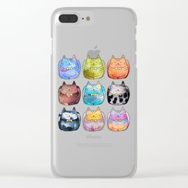 Colorful Cats Clear iPhone Case