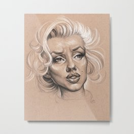"Marilyn Monroe ""Whats Love without Tragedy"" Metal Print"
