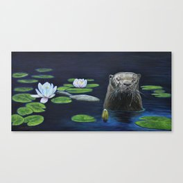 The River Otter by Teresa Thompson Canvas Print