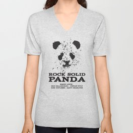 Rock Solid Panda Unisex V-Neck