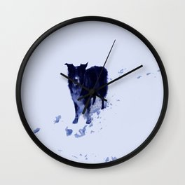 A Snootful of Snow Wall Clock