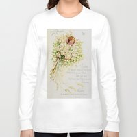 wedding Long Sleeve T-shirts featuring Wedding Bells by Lucia