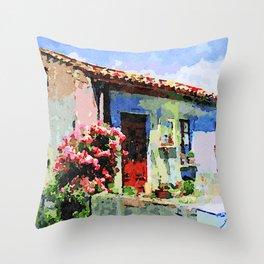 Catanzaro: home and flower Throw Pillow