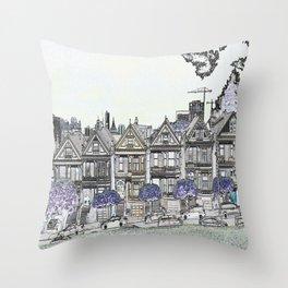 Painted Ladies Digital Drawing Throw Pillow