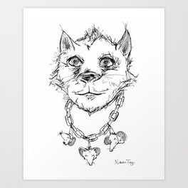 Cat and Mouse: Chain-Linked Existence Art Print