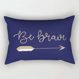 Be Brave Arrow (Blue) Rectangular Pillow