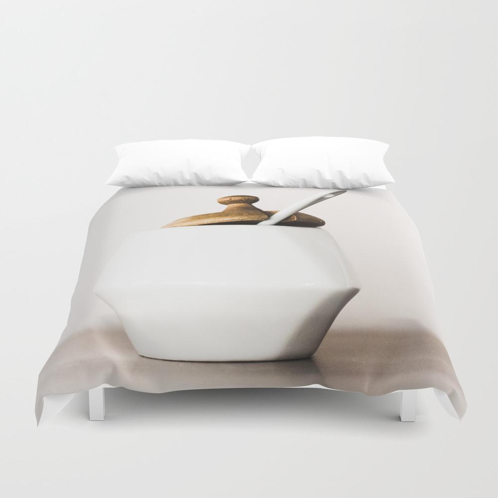 White Ceramic Sugar Cup Duvet Cover by Carlotoffolo DUV7790108