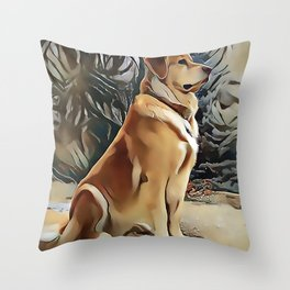 A Golden Retriever Throw Pillow
