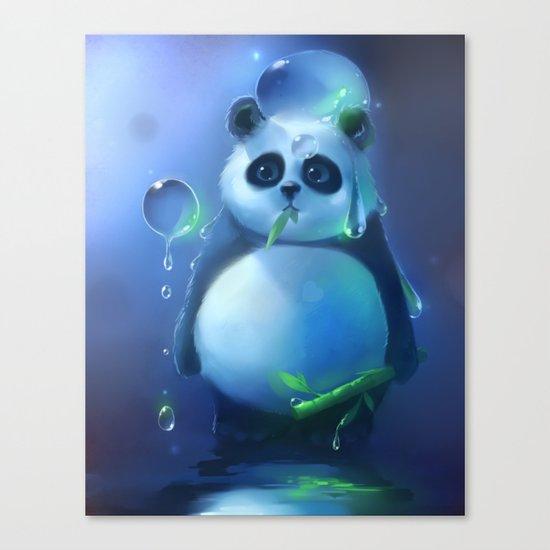 aqua panda Canvas Print