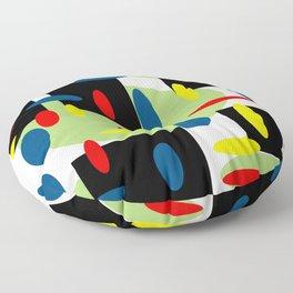 Random Retro with Black Floor Pillow