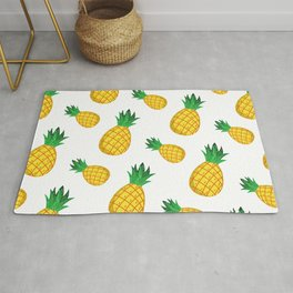 Delicious Pineapple Illustration Pattern Rug