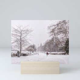 snow days in the park Mini Art Print