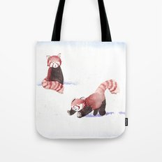 Red Pandas in the Snow Tote Bag