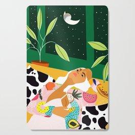 Moon Lover #illustration #feminism Cutting Board