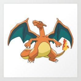 Pokémon Charizard Art Print
