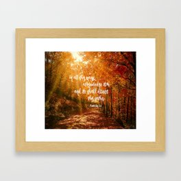 He Will Direct Your Path Bible Verse Framed Art Print
