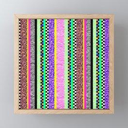 Leopard Zebra Check Stripe Mixed Pattern - Vertical II Framed Mini Art Print