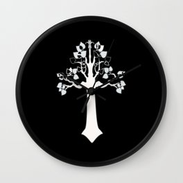 The White Tree Wall Clock