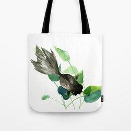 Black Moor Aquarium Fish, KOI Feng SHui Art Tote Bag