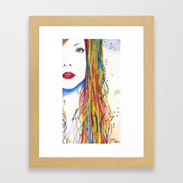 Rainbows and Black birds Framed Art Print