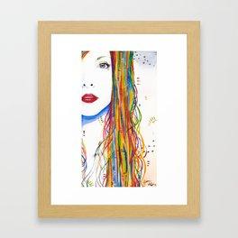 Rainbows and Black birds Framed Art Print