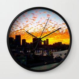 Miami Dusk Wall Clock